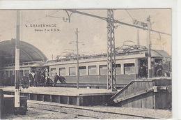 S'Gravenhage - Station Z.H.E.S.M. Mit Bahn - Animiert - 1912      (A-99-170621) - Den Haag ('s-Gravenhage)