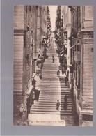 MALTA  Rue Sainte- Lucie à La Valette OLD POSTCARD - Malta