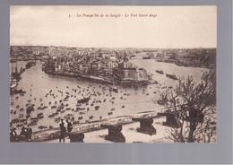 MALTA  La Presqu'île De La Sangle - Le Fort Saint-Ange OLD POSTCARD - Malta