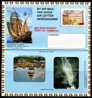 FP1556 Guyana 1995 Columbus Nautical Stamped Burger 800 Years  Aerogramme - Guyana (1966-...)