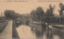 59 CAMBRAI  Canal De St-Quentin - Cambrai