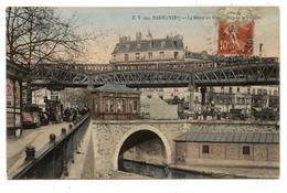 CPA: ( 75 ) -Paris Le Métro Et Le Rond Point De La Villette .                      .E.63 - Métro Parisien, Gares