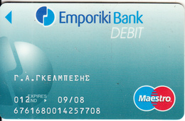 GREECE - Emporiki Maestro Card(reverse Elektra), 01/03, Used - Credit Cards (Exp. Date Min. 10 Years)