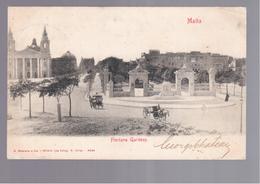 MALTA Floriana Gardens OLD POSTCARD - Malta