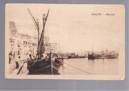 MALTA Marina OLD POSTCARD - Malta