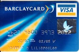 GREECE - Barclays Bank Visa(reverse Oberthur), 10/02, Used - Cartes De Crédit (expiration Min. 10 Ans)