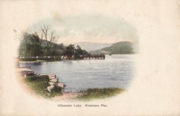 AL66 Ullswater Lake, Howtown Pier - Early Undivided Back Vignette - Cumberland/ Westmorland