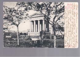 MALTA Ball's Monument, Barracca Inferiore 1904 OLD POSTCARD - Malta
