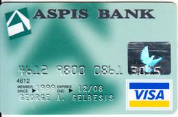 GREECE - ASPIS Bank Visa(reverse Axalto), 02/06, Used - Credit Cards (Exp. Date Min. 10 Years)