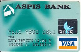 GREECE - ASPIS Bank Visa(reverse Schlumberger), 01/01, Used - Cartes De Crédit (expiration Min. 10 Ans)