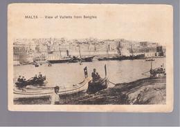 MALTA View Of Valletta From Senglea OLD POSTCARD - Malta