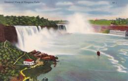 AO06 General View Of Niagara Falls - Linen Postcard - Niagara Falls