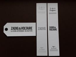 "ZADIG& VOLTAIRE   ""  3 Cartes Différentes  ""   !! - Perfume Cards"