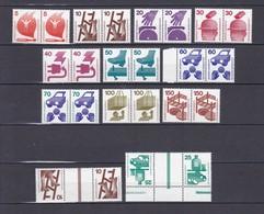 BRD - 1971/73 - Michel Nr. 694/703+773 - W. Paare+ KZ8/9 - Postfrisch - 78 Euro - BRD