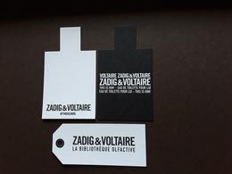 "ZADIG& VOLTAIRE   ""  3 Cartes Différentes  "" N° 2   ** 2 Scans  R/V !! - Perfume Cards"