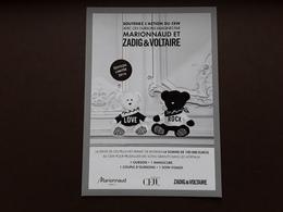 """ZADIG& VOLTAIRE   """"  Carte Marionnaud Et Zadig Et Voltaire  """"   !! - Perfume Cards"""