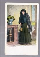 MALTA Maltese Lady OLD POSTCARD - Malta