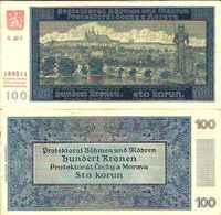 Bohème Et Moravie ( Bohemia) 100 KORUN (1940) Pick 7 SUP (XF) - Billets