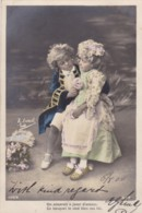 AO83 Children - Boy And Girl In Fancy Dress Costume - Children And Family Groups