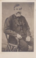 AO83 People - Bearded Man Seated In A Rattan Chair - 1906 RPPC - Men