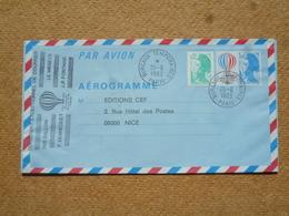 Aérogramme Transport Par Ballon Le Mégève Oblitération Bureaux Temporaires Paris 1983 - Postal Stamped Stationery
