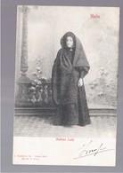 MALTA  Maltese Lady 1903 OLD POSTCARD - Malta