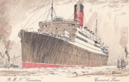 AP58 Shipping - Cunard Line R.M.S. Samaria - Artist Signed Odin Rosenvinge - Steamers
