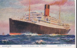 AP58 Shipping - Cunard Line The New Oil Burning Liner Samaria By Odin Rosenvinge - Steamers