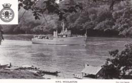 AP58 Military Shipping - Gale & Polden Postcard - H.M.S. Woolaston - RPPC - Warships
