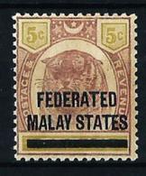 Malasia (Británica) Estados Federados Nº 4 Nuevo - Federated Malay States
