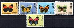 Serie  Nº 923/7   Peru - Mariposas