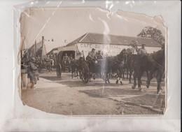 ETAT SEE SCAN CAFE DU KURSAAL GERMAN TROOPS PASSING VILVOORDE ON THE WAY TO GHENT GENT BELGIQUE     +- 24*17CM - Guerre, Militaire