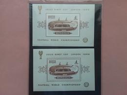 MONGOLIA - Mondiali Di Calcio 1966 - 2 BF Nuovi ** + Spese Postali - Mongolia