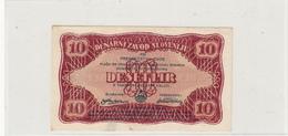 "SLOVENIJA 10 LIR  DESET  LIR 1944 "" PARTIZANSKI DENAR "" PARTIZAN BANKNOTE - Eslovenia"