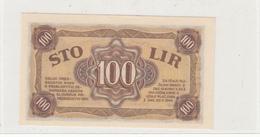"SLOVENIJA 100 LIR  STO  LIR 1944 "" PARTIZANSKI DENAR "" PARTIZAN BANKNOTE - Eslovenia"