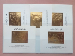EMIRATI ARABI - SHARJAH - Vincitori Olimpiadi Grenoble 1968 - Su Lamina Oro - Nuovi ** + Spese Postali - Schardscha