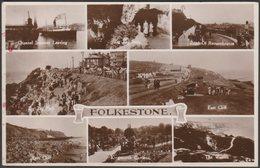 Multiview, Folkestone, Kent, 1949 - Shoesmith & Etheridge RP Postcard - Folkestone