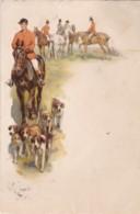 AR42 Animals - The Hunt, Horses, Dogs - Vignette - Paarden