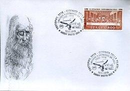 46486 Italia, Special Postmark 2019 Vasto,,The Great Kite Was A Wooden Machine Designed By Leonardo Da Vinci - Arts