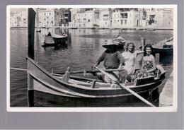 MALTA  Boating In Marsascala OLD PHOTO, POSTCARD - Malta
