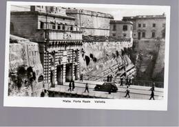MALTA  Porta Reale, Valletta OLD PHOTO, POSTCARD - Malta