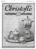 1928 Christofle Couverts Orfèvrerie - Publicité - Publicités