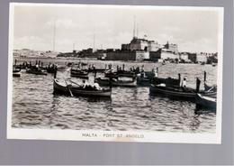 MALTA  Fort St Angelo OLD PHOTO, POSTCARD - Malta