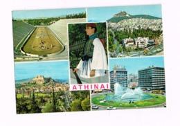 Athinai.Multivues.Expédié De Neamakpi à Lokeren (Belgique) - Grèce