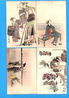 6 Cartes Asie à Identiier - Cartes Postales