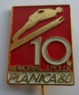 """PLANICA 1980 80 """"10. Poldov Memorial SKI JUMPING SLOVENIJA SKI / SKIING SKI JUMPING PIN BADGE Z3 - Winter Sports"""