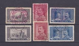 Bosnien Und Herzegowina - 1917 - Michel Nr. 121/123 A + Stempel Rot - Ungebraucht