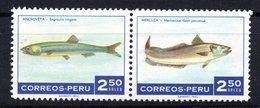 Serie  Nº 518/9  Peru - Peces