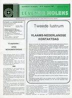 Thema: Molen, Maalderij Vlaanderen - Nummer Van LEVENDE MOLENS Augustus 1991. Tessenderlo, Wulveringem, Oerle E.a. - Tijdschriften