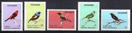 Serie  Nº 898/902 Ecuador - Pájaros